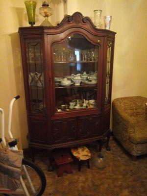 Antique Claw Foot China Cabinet for Sale in La Grange Park, IL