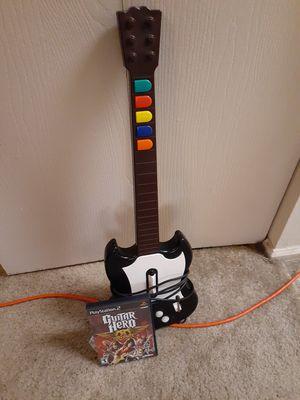Ps2 guitar bundle guitar and guitar hero Aerosmith game for Sale in Indianapolis, IN