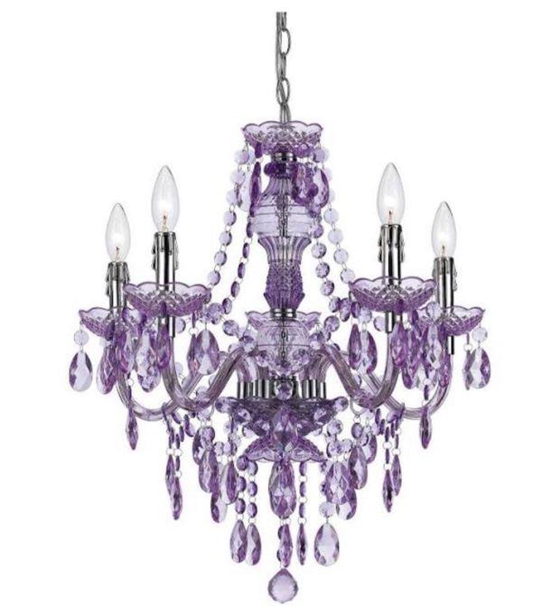 Purple Chandelier, Pendant, Light, lighting, lamp, RETAIL $120