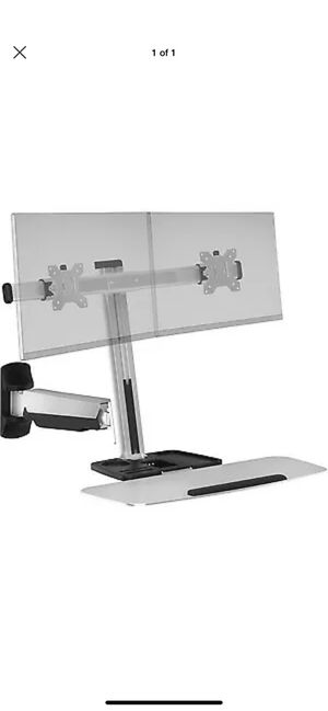 Ergotech FDM-LIFT-2-WM Freedom Lift Sit Stand Dual Wall Mount for Sale in Santa Fe Springs, CA