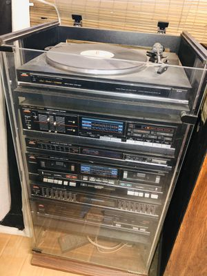 Fisher stereo system and speakers, tape, CD, phonograph for Sale in San Jose, CA