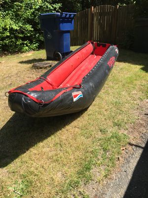 Grabner inflatable canoe with transom for motor for Sale in Kirkland, WA