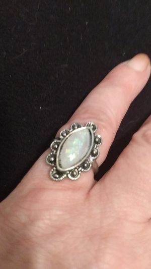 Embossed faux silver w a long moonstone. for Sale in CRYSTAL CITY, CA