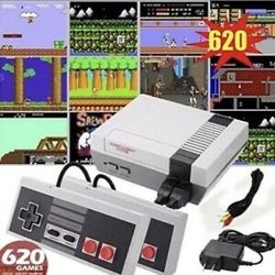Retro Game Consoles, AV Output 8-bit Video Games Console Built-in 620 Games, 2 Pack Classic Handheld USB Controller for NES Games Nintendo for Sale in Chino,  CA