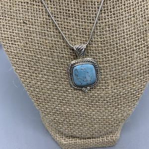 Sterling Silver And Turquoise Pendant Necklace for Sale in Detroit, MI