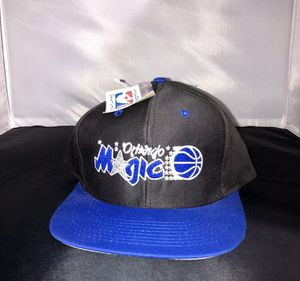 Vintage Orlando Magic Snapback Hat Script Spell Out Embroidered Cap Logo 7 NWT for Sale in Lynwood, CA