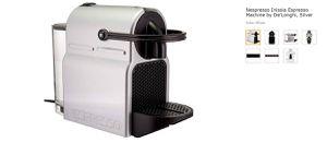 Nespresso Inissia Espresso Machine by De'Longhi, Silver for Sale in Alexandria, VA