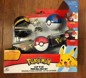 Brand new Pokemon Meowth Clip 'N Go Poke Ball Belt Set(pick up only) for Sale in Alexandria, VA