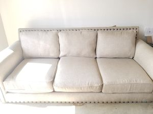 Tan / Light brown upholstered 3 seat couch for Sale in Tustin, CA