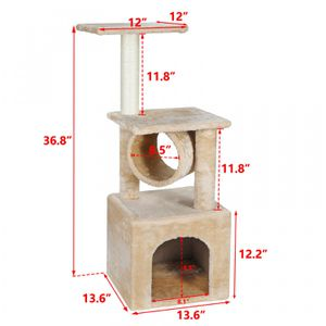36 Inch Cat Trees Towers Cat Furniture Condo for Kittens with Scratching Posts for Sale in Wildomar, CA