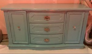 Turquoise dresser/TV stand console for Sale in Holly Springs, NC