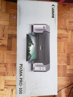 """Canon Pixma Pro-100 Color Photo Inkjet Printer with 50 sheets(13""""x19"""") Photo Paper for Sale in Stamford, CT"""