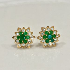 18k gold filled Studs earrings jewelry accessory green great for Christmas! for Sale in Silver Spring, MD