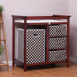 2 Colors Baby Diaper Storage Changing Table with 3 Baskets for Sale in Lake Elsinore, CA