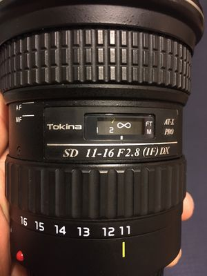 Tokina 11-16mm F2.8 (Canon mount) lens for Sale in Urbana, IL