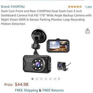Dash Cam Front and Rear CHORTAU Dual Dash Cam 3 inch Dashboard Camera Full HD 170° Wide Angle Backup Camera with Night Vision WDR G-Sensor Parking Mon for Sale in Norcross, GA
