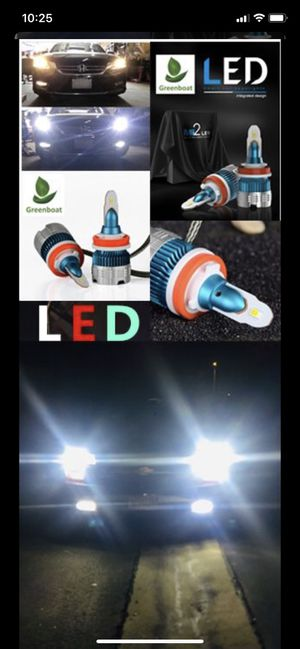 Super Bright White LED headlight Solutions H1 H4 H7 H8 H9 H10 H11 H13 H16 full sizes Available for Sale in West Covina, CA