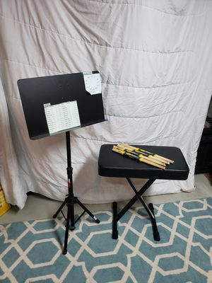 Music stand and bench for Sale in St. Louis, MO