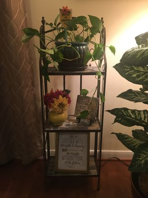 Wrought Iron Baker's Rack / Plant Stand for Sale in Austin, TX