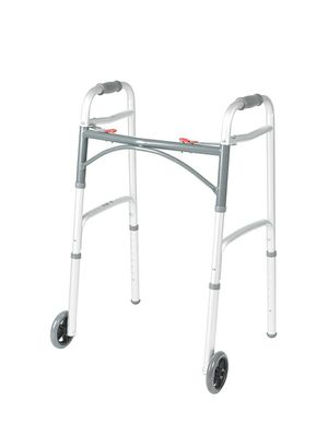 Drive Medical Deluxe Two Button Folding Walker with 5-Inch Wheels for Sale in Falls Church, VA