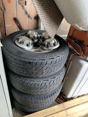 Used Rims and tires 2004 Chevy & GMC van for Sale in Frederick, MD