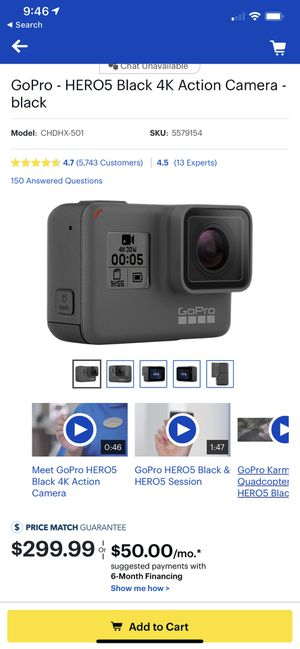 GoPro Hero 5 Black w/ 3 Batteries and Charging Station for Sale in Philadelphia, PA