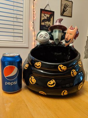 nightmare before Christmas Lock, shock & barrel candy bowl for Sale in Ontario, CA