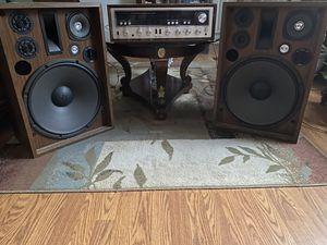 Kenwood AM/FM Stereo Receiver Model-KR 7600 with speakers for Sale in Norfolk, VA