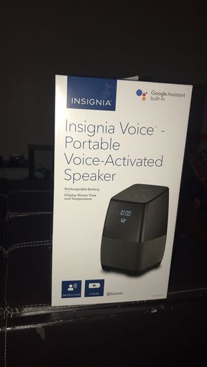 Insignia voice smart portable Bluetooth speaker & Alarm clock with google assistant for Sale in Dunwoody, GA