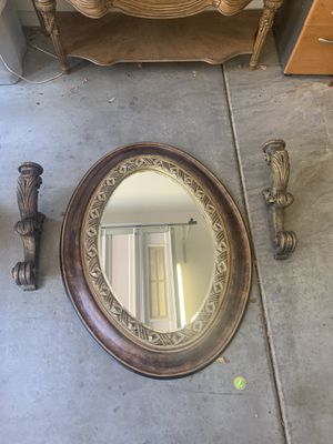 Beautiful mirror with candle holders set for Sale in Buckeye, AZ
