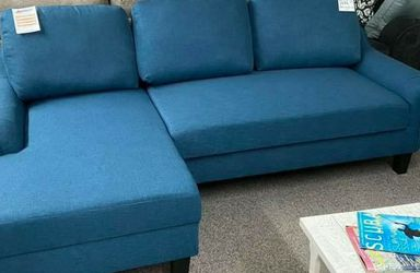 🏠🤩 Ashley Blue Sofa Chaise Sleeper 👍Apply Financing Online for Sale in Austin,  TX