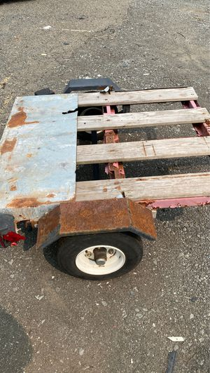 Small trailer brand new tires 4 x 3 right behind any small car or pick up truck grayed out deal for hauling asking 225 for Sale in Somerset, NJ