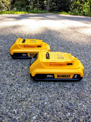TWO DeWalt 20 Volt 2.0 Batteries for Sale in Tacoma, WA