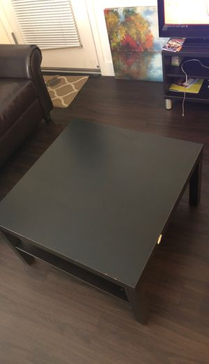 Brown coffee table + end table for Sale in San Jose, CA