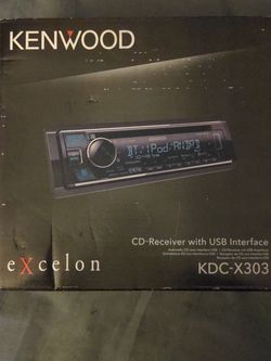 Kenwood Excelon Car CD Receiver (KDC-X303) for Sale in Portland,  OR