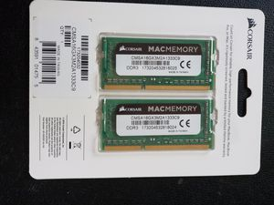 Corsair mac memory 2x8gb ddr3 1333mhz for Sale in Van Alstyne, TX