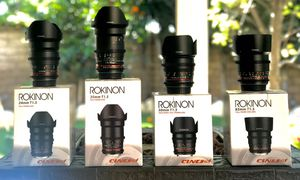 ROKINON CINE DS T1.5 Cinema Lens Kit - 50mm + 35mm + 85mm + 24mm for Canon EF for Sale in Fontana, CA