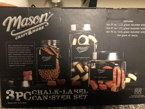 3 Piece Mason Jar Canister Set for Sale in Duluth, GA