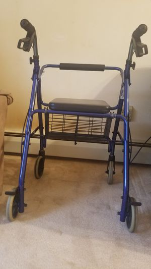 Very nice Walker with seat and hand brakes. Excellent like new condition. Selling for $50 total firm. for Sale in INVER GROVE, MN