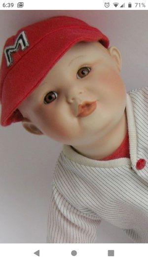 Yolanda Bello Picture Perfect Babies Michael Doll Baseball Porcelain Edwin Knowles Ashton-Drake Galleries for Sale in Plantation, FL