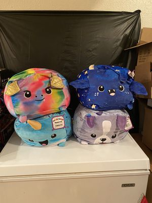 Moosh Moosh Plush squares, slippers, coin banks, plush night lights, keychains for Sale in Bellflower, CA