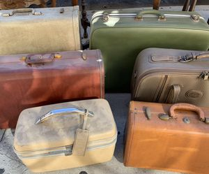 Vintage Retro Luggage Suitcases for Sale in East Los Angeles, CA