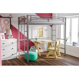 Twin XL Metal Silver Loft Bed, Yourzone(Walmart) for Sale in Buffalo, NY