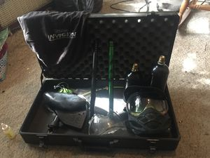Paintball gun case, protective mask, two pressure tanks, two barrels for Sale in Waterbury, CT