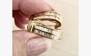 38 Diamond baguettes in each earring. 14k gold. SALE for Sale in Beverly Hills, CA