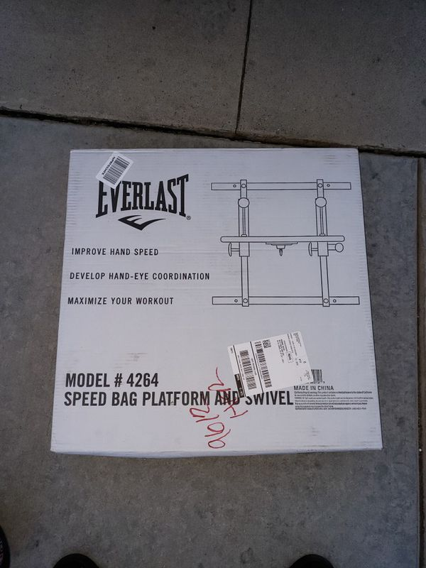 New In Box Everlast Speed Bag Adjustable Platform With Swivel