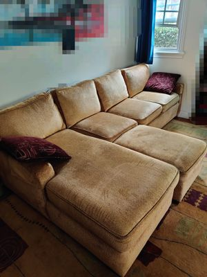 Large Sectional Couch with ottoman and throw pillows for Sale in West Hollywood, CA
