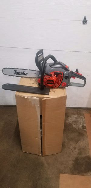 """Tanaka 16"""" Chainsaw. Like new condition. Fires up and runs excellent Commercial Grade unit. $250 for Sale in Bolingbrook, IL"""