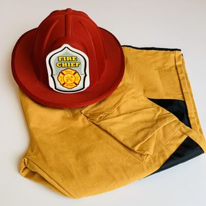 Firefighter hat and pants costume for Sale in Carlsbad, CA