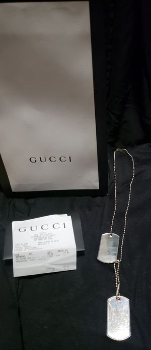 Authentic Gucci Dog Tags for Sale in Tempe, AZ